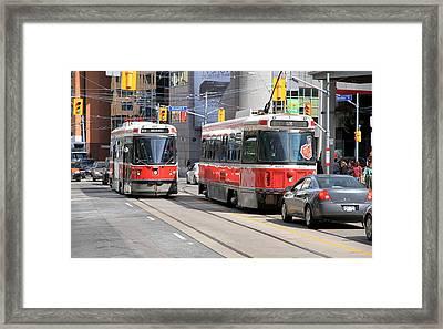 Toronto Street Framed Print by Valentino Visentini