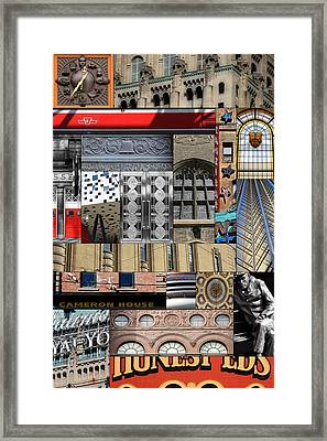 Toronto Textures 1 Framed Print by Andrew Fare