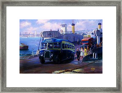 Torpoint Ferry. Framed Print by Mike  Jeffries