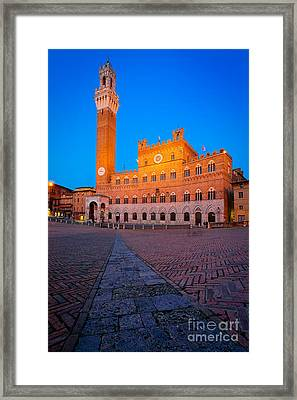 Torre Del Mangia Framed Print by Inge Johnsson