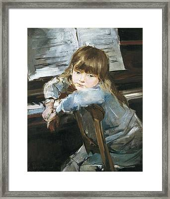Torrescassana, Francesc 1845-1918. Girl Framed Print by Everett
