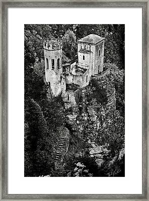 Torretta Pepoli Bw Framed Print by RicardMN Photography