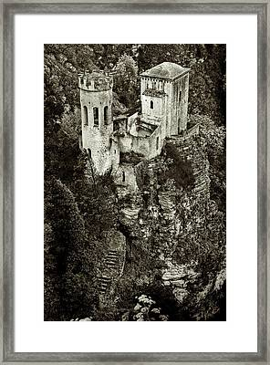 Torretta Pepoli Platinum Framed Print by RicardMN Photography