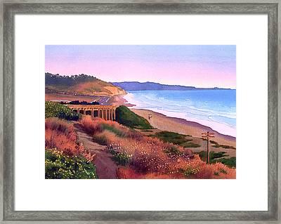 Torrey Pines Dusk Framed Print by Mary Helmreich