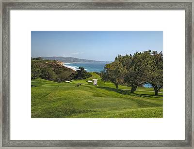 Torrey Pines Golf Course North 6th Hole Framed Print by Adam Romanowicz