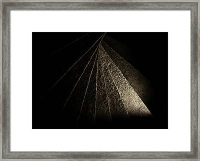 Tortugas Spiral Stone Framed Print by Adam Pender