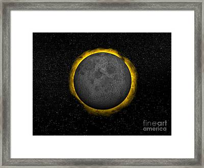 Total Eclipse Of The Sun Framed Print by Elena Duvernay