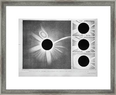 Total Solar Eclipse Of 18 July 1860 Framed Print by Royal Astronomical Society