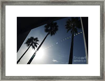Total Solar Eclipse Sequence Framed Print by Detlev Van Ravenswaay