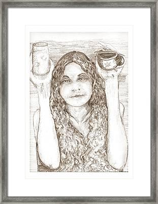 Totally Nude Vegan Coffee Shop Framed Print by Joseph Wetzel