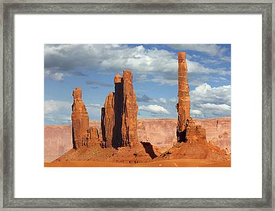 Totem Pole - Monument Valley Framed Print by Mike McGlothlen