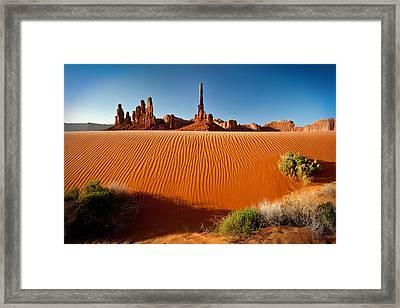 Totem Pole Sands Framed Print by Sylvia J Zarco