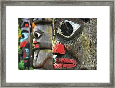 Totem Poles Framed Print by JR Photography