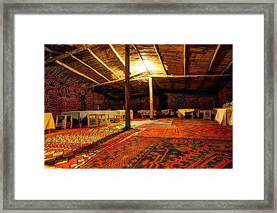 Touareg Tent Framed Print by Sophie Vigneault