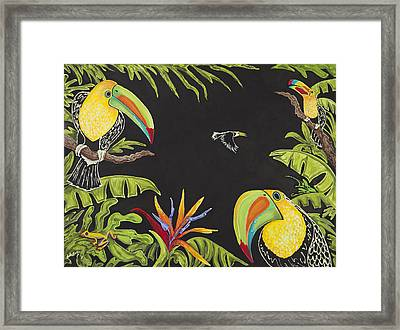 Toucan Fun Framed Print by Nickie Bradley