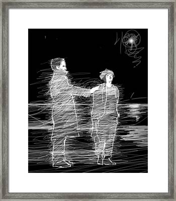 Touch. Framed Print by H James Hoff