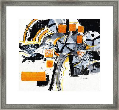 Touch Of Gold 4 Framed Print by Joan Gillman Smith