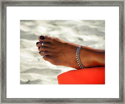 Touch Of Sun Framed Print by Karen Wiles