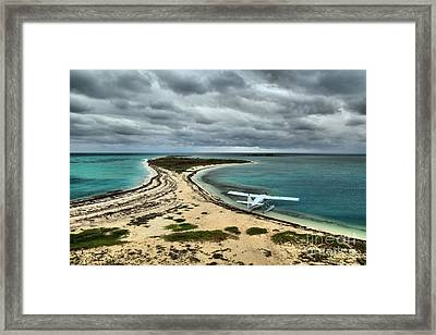 Touchdown At Tortugas Framed Print by Adam Jewell