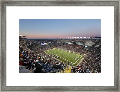 Touchdown New England Patriots  Framed Print by Juergen Roth