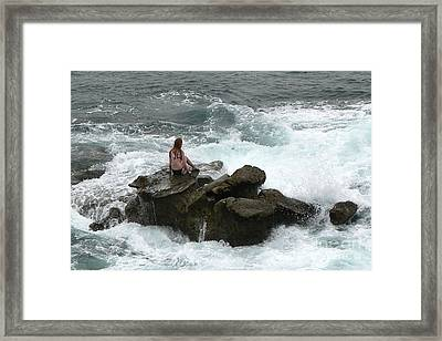 Touched By An Angel Framed Print by Helen Xiao