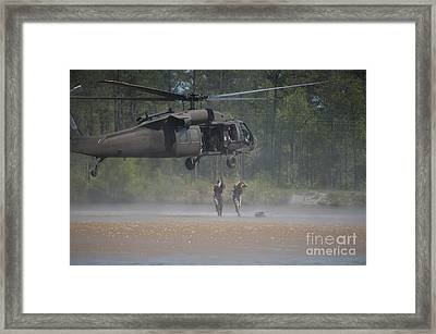 Touching Down Framed Print by Liesl Marelli