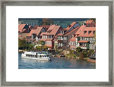 Tour Boat In Little Venice (klein Framed Print by Michael Defreitas