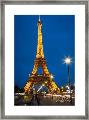 Tour Eiffel De Nuit Framed Print by Inge Johnsson