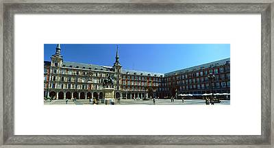 Tourists At A Palace, Plaza Mayor Framed Print by Panoramic Images