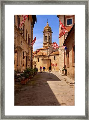 Tourists At Santa Maria Assunta Church Framed Print by Brian Jannsen