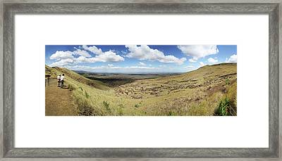 Tourists Near The Masaya Volcano Framed Print by Panoramic Images