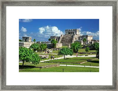 Tourists Visiting The Ruins Framed Print by Brian Jannsen