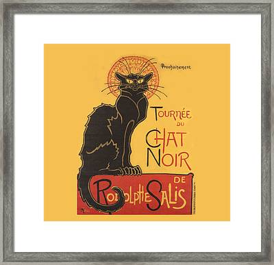 Tournee Au Chat Noir Framed Print by Theophile Steinlen