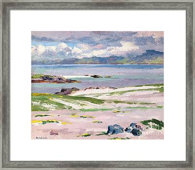 Towards Mull From Choc Ard Anraidh Framed Print by Francis Campbell Boileau Cadell