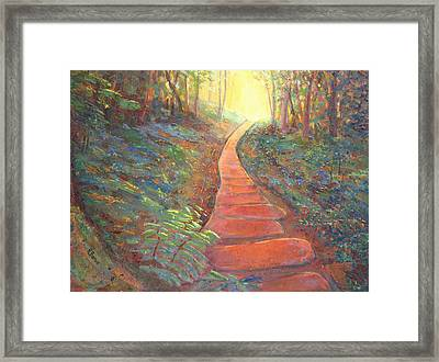 Towards The Light Framed Print by Robie Benve