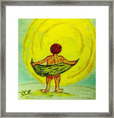 Toweling At The Moon Framed Print by Eloise Schneider