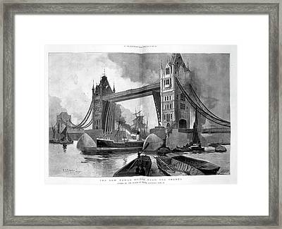 Tower Bridge Framed Print by British Library