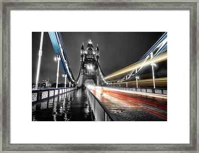 Tower Bridge Lights Framed Print by Ian Hufton