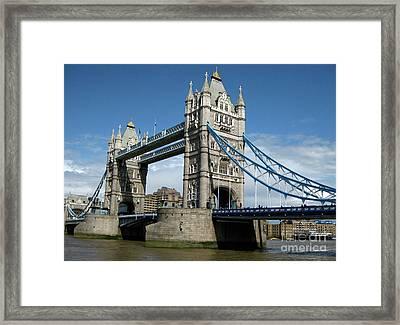 Tower Bridge London Framed Print by Heidi Hermes