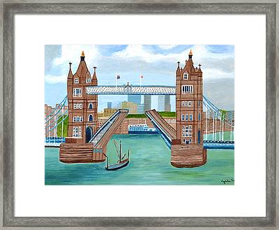 Tower Bridge London Framed Print by Magdalena Frohnsdorff