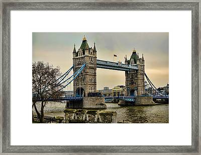 Tower Bridge On The River Thames Framed Print by Heather Applegate
