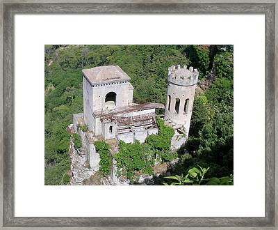 Tower In Erice Sicily Framed Print by Caroline Stella