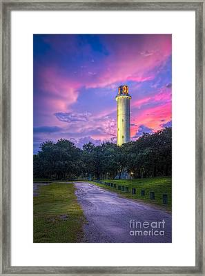 Tower In Sulfur Springs Framed Print by Marvin Spates