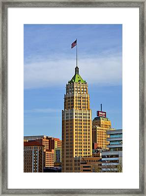 Tower Life Building San Antonio Tx Framed Print by Christine Till