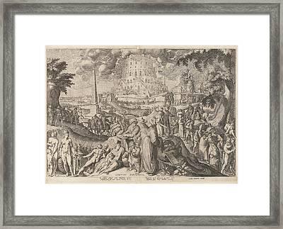 Tower Of Babel, Zacharias Dolendo, Jacob De Gheyn II Framed Print by Zacharias Dolendo And Jacob De Gheyn (ii) And Cornelis Danckerts (i)
