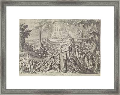 Tower Of Babel, Zacharias Dolendo, Jacob De Gheyn II Framed Print by Zacharias Dolendo And Jacob De Gheyn (ii) And Willem Jans
