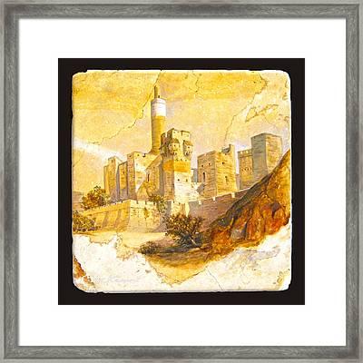 Tower Of David Framed Print by Miki Karni