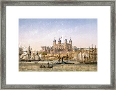 Tower Of London, C.1862 Framed Print by Achille-Louis Martinet