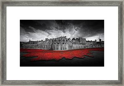 Tower Of London Remembers Framed Print by Ian Hufton