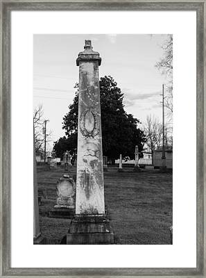 Towering Tombstone Framed Print by Robert Hebert